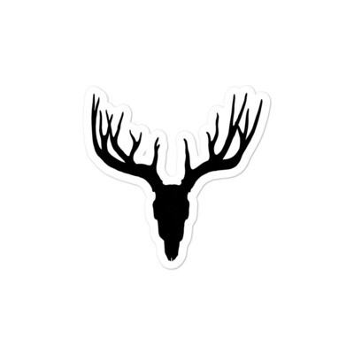 Deer Skull - Vinyl Bubble-free stickers (Multi sizes) The Rocky Mountain Canadian American Rockies