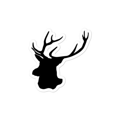 Deer Head - Vinyl Bubble-free stickers (Multi Sizes) The Rocky Mountains Canadian American Rockies