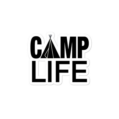 Camp Life - Vinyl Bubble-free stickers (Multi Sizes) The Rocky Mountains Canadian American Rockies