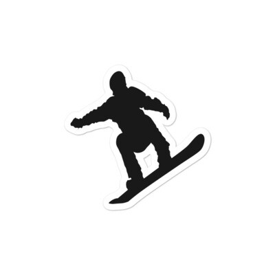Snowboarder - Vinyl Bubble-free stickers (Multi Sizes) The Rockies American Canadian Rocky Mountains