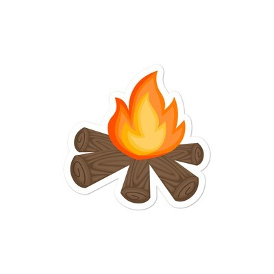 Campfire - Vinyl Bubble-free stickers (Multi Sizes) The Rockies Canadian American Rocky Mountains