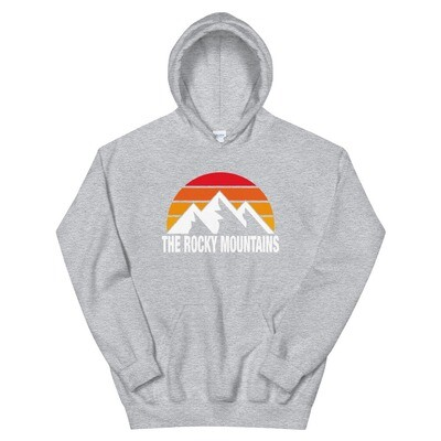 The Rocky Mountains - Hoodie (Multi Colors) The Rockies Canadian American Rocky Mountains
