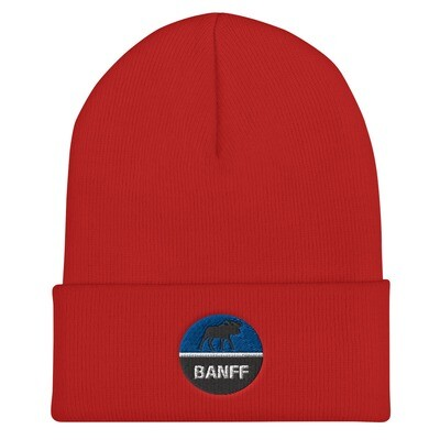 Banff Alberta Canada - Cuffed Beanie (Multi Colors) The Rockies Canadian Rocky Mountains