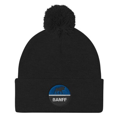 Banff Alberta Canada - Pom Pom Knit Cap (Multi Colors) The Rockies Canadian Rocky Mountains