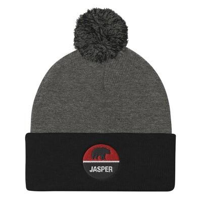 Jasper Alberta Canada - Pom Pom Knit Cap (Multi Colors) The Rockies Canadian Rocky Mountains