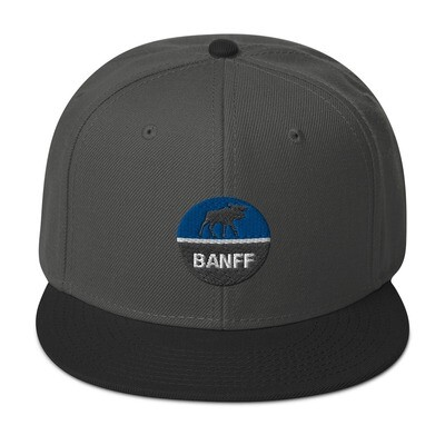 Banff Alberta Canada - Snapback Hat (Multi Colors) The Rockies Canadian Rocky Mountains