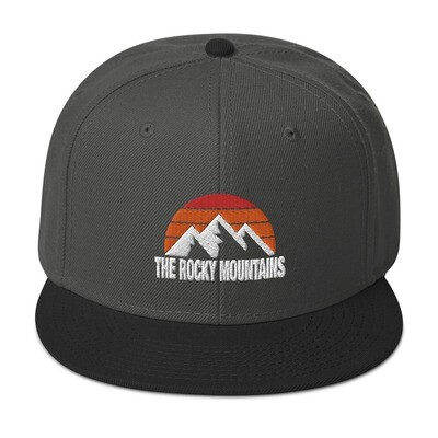 The Rocky Mountains - Snapback Hat (Multi Colors) Canadian American Rockies