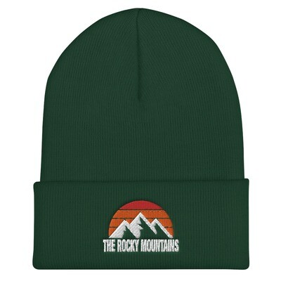 The Rocky Mountains - Cuffed Beanie (Multi Colors) Canadian American Rockies