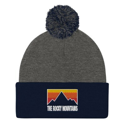 The Rocky Mountains - Pom-Pom Beanie (Multi Colors) Canadian American Rockies