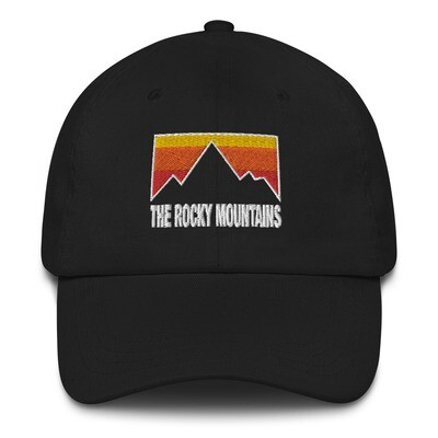 The Rocky Mountains - Baseball / Dad hat (Multi Colors) The Rocky Mountains Canadian American Rockies