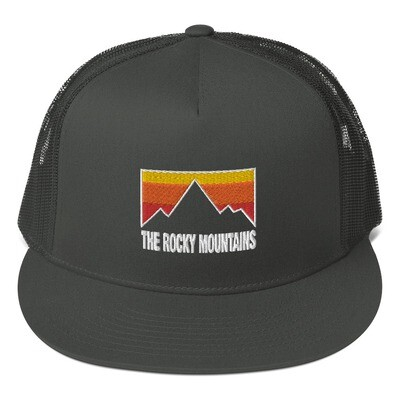 The Rocky Mountains - Mesh Back Snapback - The Rockies Canadian American Rocky Mountains
