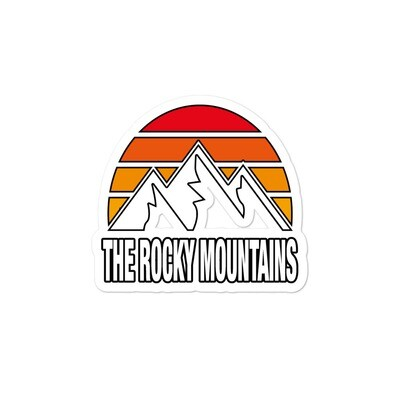 The Rocky Mountains - Vinyl Bubble-free stickers (Multi Sizes) Canadian American Rockies