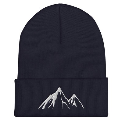 Mountain Peaks - Cuffed Beanie (Multi Colors) The Rocky Mountains Canadian American Rockies