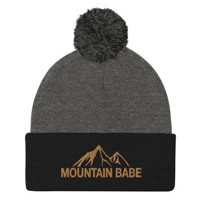 Mountain Babe - Pom-Pom Beanie (Multi Colors) The Rocky Mountains Canadian American Rockies