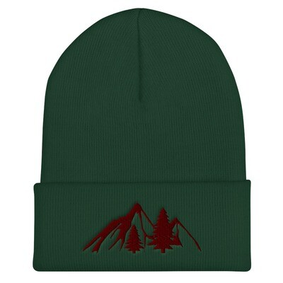 Mountains and Pines - Cuffed Beanie (multi Colors) The Rocky Mountains Canadian American Rockies