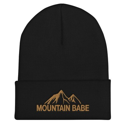 Mountain Babe - Cuffed Beanie (Multi Colors) The Rocky Mountains Canadian American Rockies