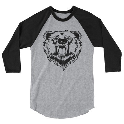 Bear - 3/4 sleeve raglan shirt (Multi Colors) The Rocky Mountains Canadian American Rockies