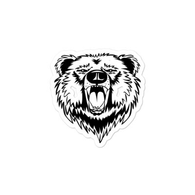 Bear - Vinyl Bubble-free stickers (Multi Sizes) The Rocky Mountains American Canadian Rockies