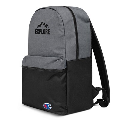 Explore - Embroidered Champion Backpack
