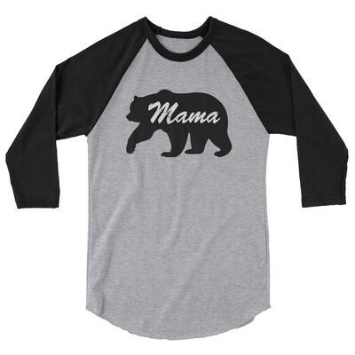 Mama Bear - 3/4 sleeve raglan shirt (Multi Colors) American Canadian Rockies