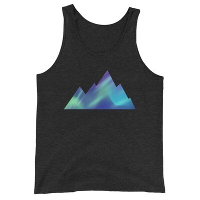 Aurora Mountains - Tank Top (Multi Colors) The Rockies, Canadian American Rocky Mountains