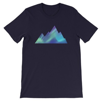 Aurora Mountains - T-Shirt (Multi Colors) The Rocky Mountains, Canadian American Rockies
