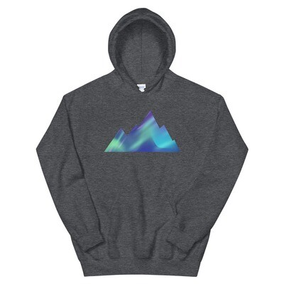 Aurora Mountains - Hoodie (Multi Colors) The Rocky Mountains, Canadian, American Rockies