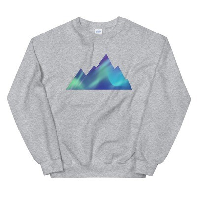 Aurora Mountains - Sweatshirt (Multi Colors) The Rocky Mountains, Canadian American Rockies