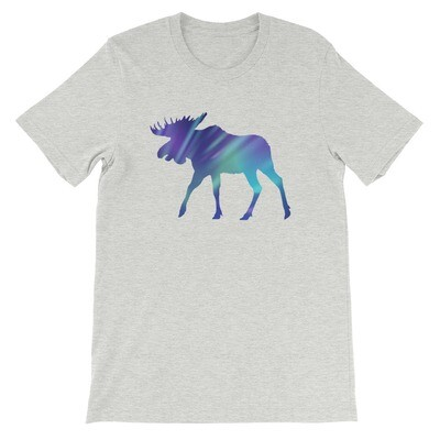Aurora Moose - T-Shirt (Multi Colors) The Rocky Mountains, Canadian American Rockies