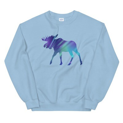 Aurora Moose - Sweatshirt (Multi Colors) The Rocky Mountains Canadian American Rockies