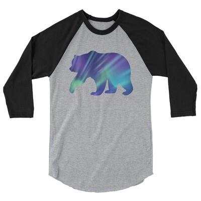 Aurora Bear - 3/4 sleeve raglan shirt (Multi Colors) The Rocky Mountains, Canadian, American Rockies