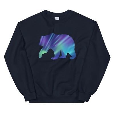 Aurora Bear - Sweatshirt (Multi Colors) The Rocky Mountains, Canadian American Rockies