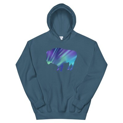Aurora Bison - Hoodie (Multi Colors) The Rocky Mountains, Canadian Rockies, American Rockies