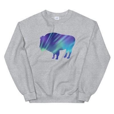 Aurora Bison - Sweatshirt (Multi Colors) The Rocky Mountains, Canadian American Rockies