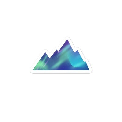 Aurora Mountains - Vinyl Bubble-free stickers (Multi Sizes) The Rocky Mountains