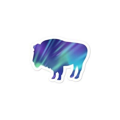 Aurora Bison - Vinyl Bubble-free stickers (Multi Sizes) The Rocky Mountains