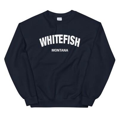 Whitefish Montana - Sweatshirt (Multi Colors) The Rocky Mountains, American Rockies