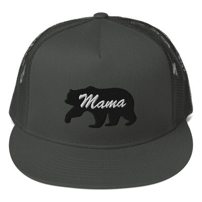 Mama Bear - Mesh Back Snapback - The Rocky Mountains