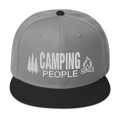 Camping People - Snapback Hat (Multi Colors) The Rocky Mountains