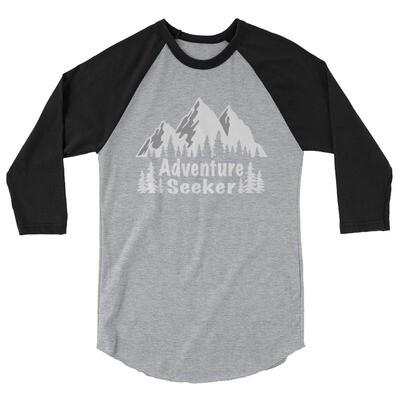 Adventure Seeker - 3/4 sleeve raglan shirt (Multi Colors) The Rocky Mountains