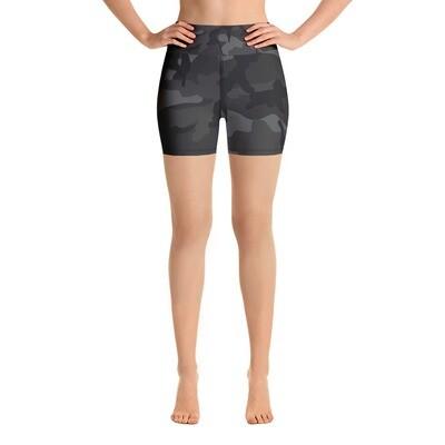 Dark Camo - High Waisted Shorts