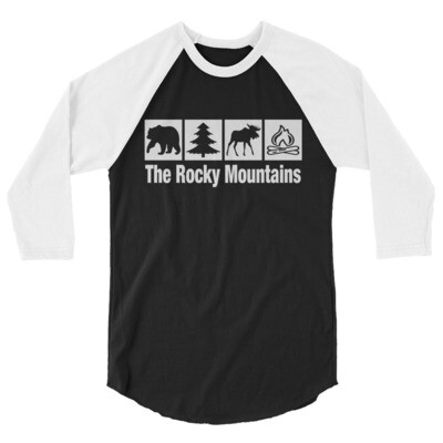 The Rocky Mountains - 3/4 sleeve raglan shirt (Multi Colors)