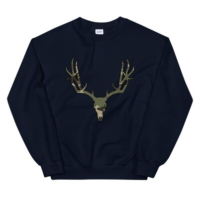 Deer Skull Forest (Hunting) Camo - Sweatshirt (Multi Colors)