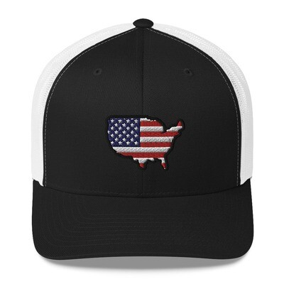 USA Map - Trucker Cap (Multi colors)
