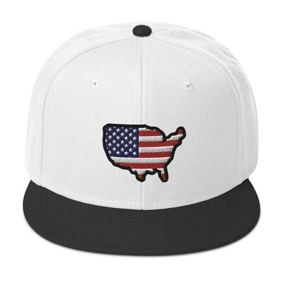 USA Map - Snapback Hat (Multi Colors)