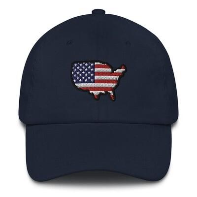 USA Map - Baseball / Dad hat (Multi Colors)