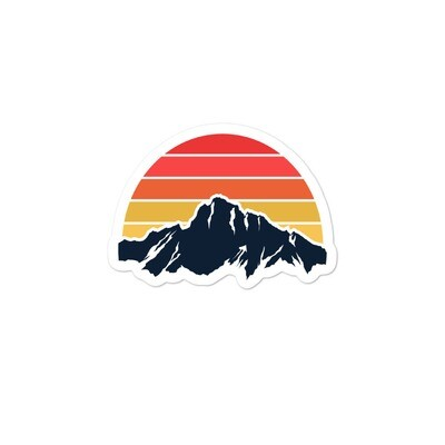 Mountain Sunset - Bubble-free stickers (Multi Sizes)
