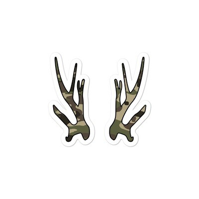 Deer Antlers Forest (Hunting) Camo - Bubble-free stickers (Multi Colors)