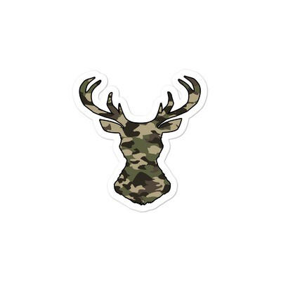 Deer Head Forest (Hunting) Camo - Bubble-free stickers (Multi Sizes)