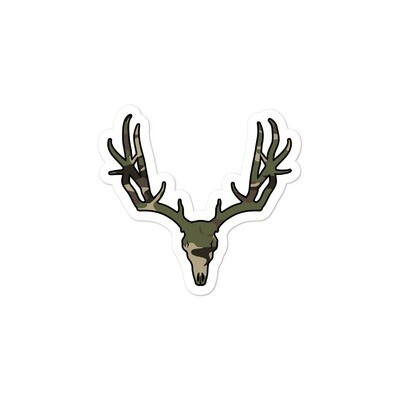 Deer Skull Forest (Hunting) Camo - Bubble-free stickers (Multi Sizes)